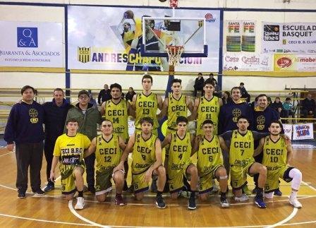 Basquet Santafecino - Ceci BC con Biscaychipy venció a San Jorge y es escolta.