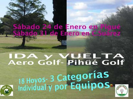 Golf - Pihue Golf pierde en Coronel Suárez, pero se queda con el general.