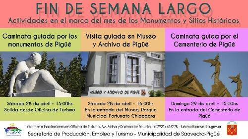 Turismo municipal anunció actividades para el finde largo en Pigüé
