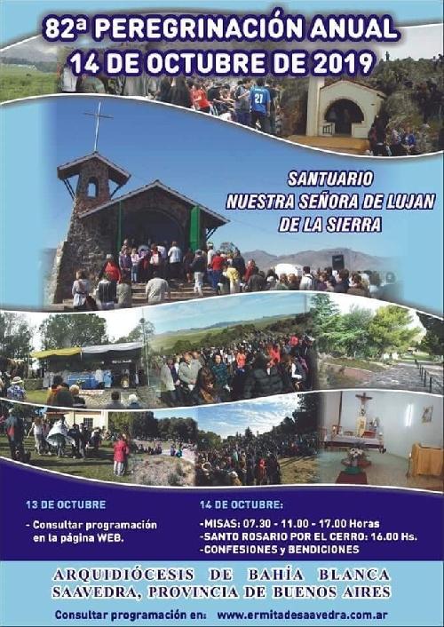 82º Peregrinación anual al Santuario de Nuestra Señora de Lujan de la Sierra de Saavedra