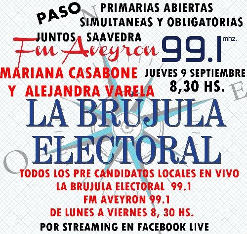 MARIANA CASABONE Y ALEJANDRA VARELA EN LA BRUJULA ELECTORAL
