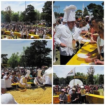 La Omelette Gigante, en su edición 19º  fue nuevamente atracción multitudinaria