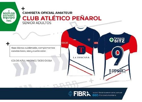 Fútbol Senior - Peñarol presenta su modelo de camiseta para la Copa Nacional.