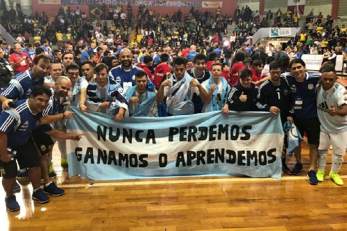 Los Halcones, seleccionado argentino de futsal con sídrome de Down subcampeones del mundo