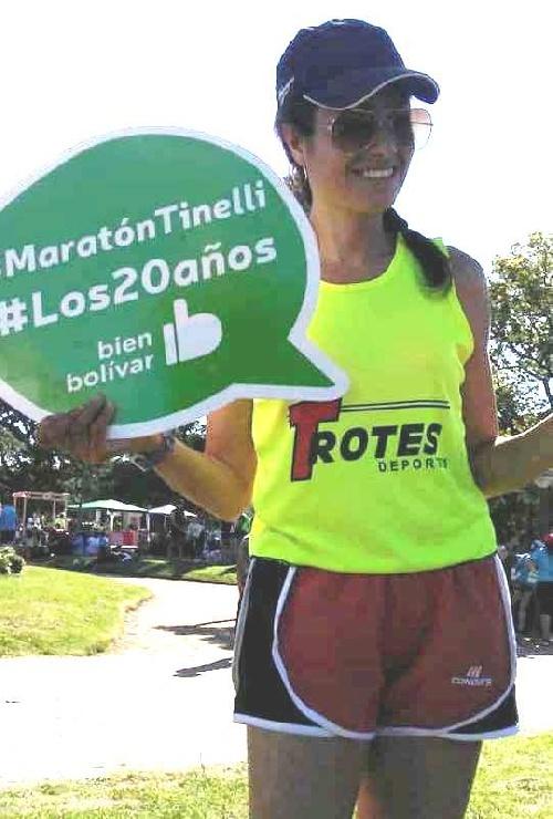 Atletismo - En la Maratón Dino Tinelli,  Yani Clair finalizó 6ta en su categoría