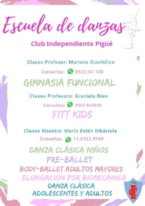 EL Club Independiente iniciará una escuela de Danzas