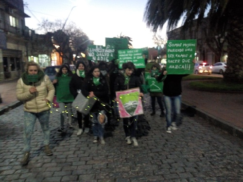 Pigüé tuvo su marcha a favor del proyecto de ley para legalizar el aborto