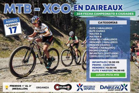 MTB - La 3ra fecha del 4 Ciudades se disputa en Daireaux el venidero sábado.