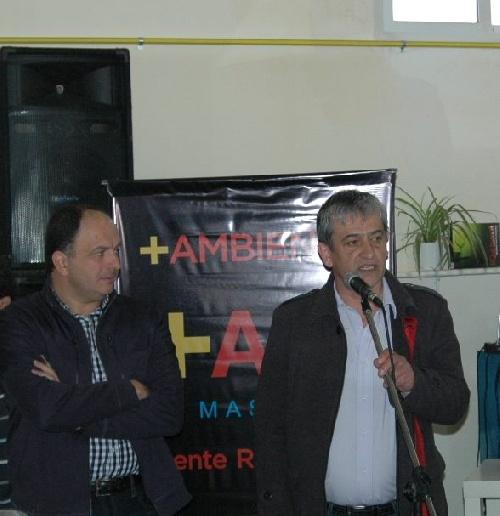 Concejal Luis Gribaldo y diputado Pablo Garate del Frente Renovador
