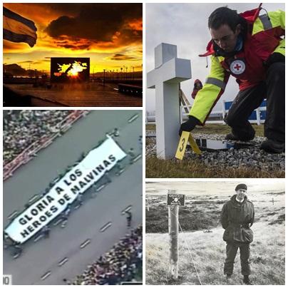 Testimonio de la digna sepultara inglesa en el cementerio de Darwin a los caídos en Malvinas