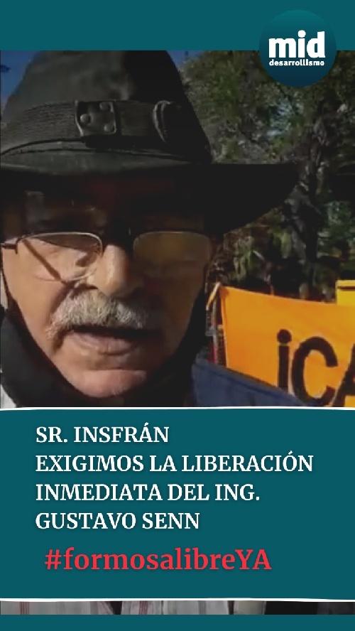 EL Movimiento de Integración y Desarrollo  ( Mid ) denuncia la detencion ilegal y reclama la liberación de su dirigente formoseño Gustavo Senn