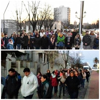 Pigüé: Gemios docentes reclaman por la EE Nº2  en  el marco de una jornada de protesta Provincial