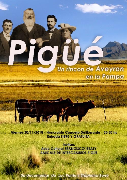"""Proyección del documental francés """"Pigüé un rincón de Aveyron en la Pampa"""""""