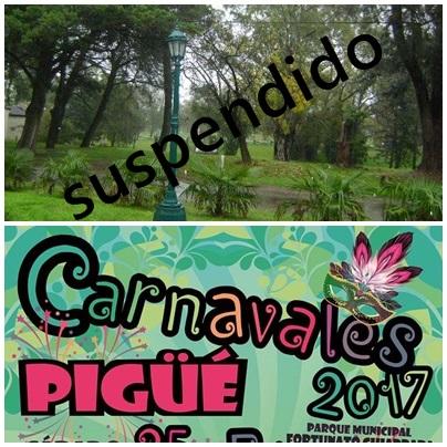 Se suspendió el carnaval de éste domingo en el Parque Municipal