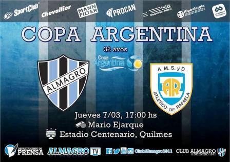 Copa Argentina - El equipo de Marcos Litre se prepara para debutar en el Torneo.
