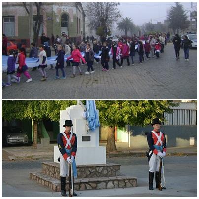 Programa oficial de actos del Dia de la Bandera en Pigüé