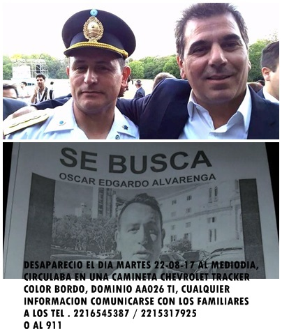 El Ministro de Seguridad Bonaerense Ritondo informó que un colaborador suyo está desaparecido