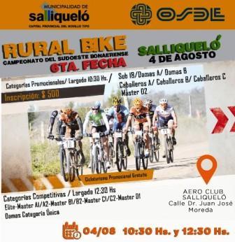 Rural Bike - Se corre la 6ta fecha del campeonato en Salliqueló.