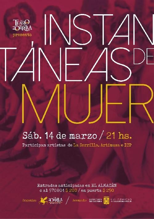 """""""Instantaneas"""" una obra para homenajear a las mujeres y reivindicar la lucha por sus derechos."""