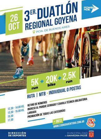 Duatlón - Todo listo para la 3ra edición del regional en Goyena.