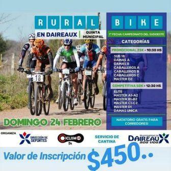 Rural Bike - Ciclistas pigüenses viajarán a Daireaux para la 1ra fecha del campeonato.