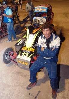Midget - Jorge Vincet finalizó 5° en su serie en el Campeonato Invernal.