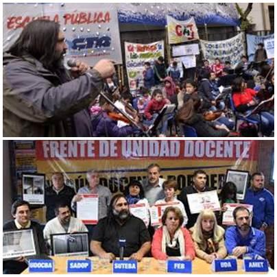 Los sindicatos docentes bonaerenses anuncian tres dias de paro