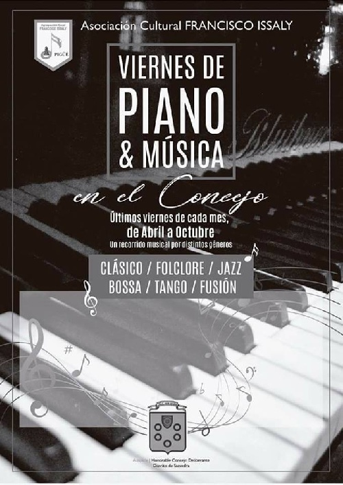 PIGÜÉ: VIERNES DE PIANO Y MUSICA EN EL CONCEJO DELIBERANTE