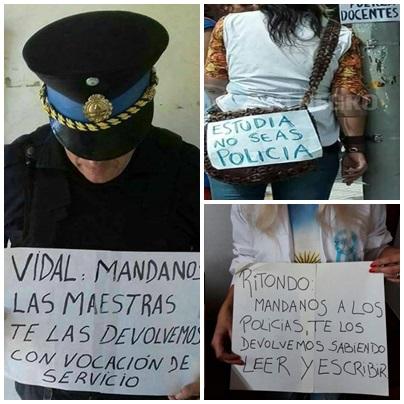 De policias  y docentes, huelgas y vocaciones, ignorancias y erudiciones en las redes sociales