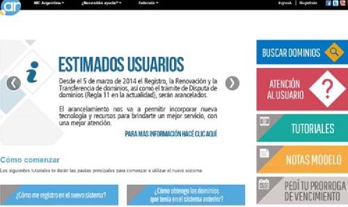 """Los dominios """".com.ar"""" costarán $ 160 por año"""
