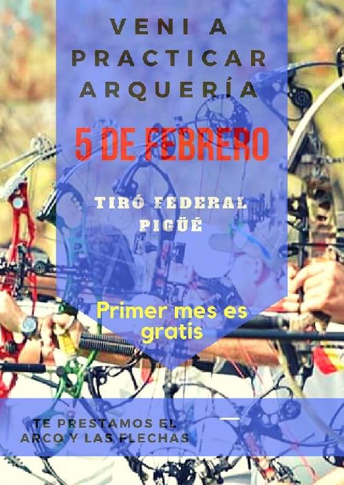 Tiro Federal Pigüé convoca a practicar arquería