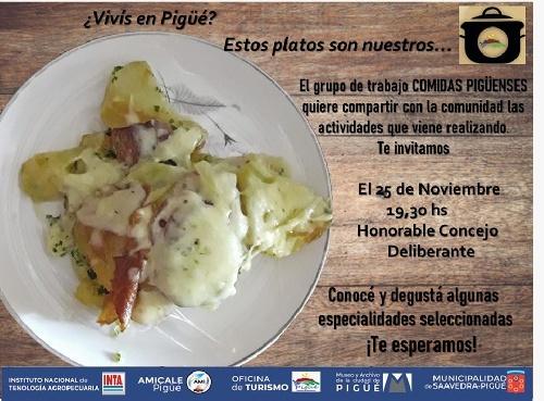 Degustación de COMIDAS PIGÜENSES de origen averonés
