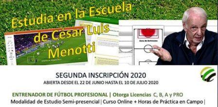 """La escuela de Entrenadores """"César Menotti"""" abre la inscripción."""