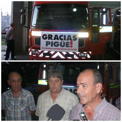 Nueva autobomba y agradecimiento de la Asociación de Bomberos Voluntarios de Pigüé