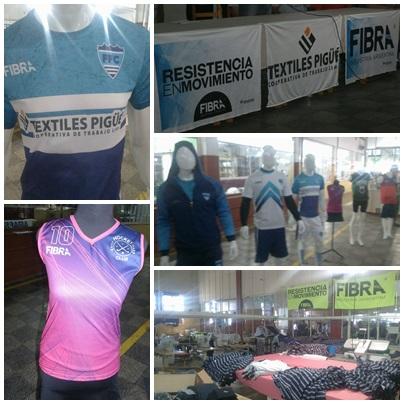 """"""" FIBRA """" la marca de ropa deportiva de la Cooperativa Textiles Pigüé"""