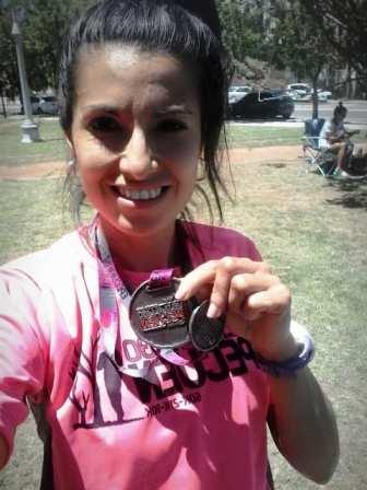 Atletismo - Yani Clair ganó los 14 k en la General de la Vuelta al Lago Epecuén.