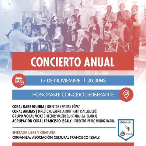 La Asociación Cultural Francisco Issaly presenta su Concierto Anual