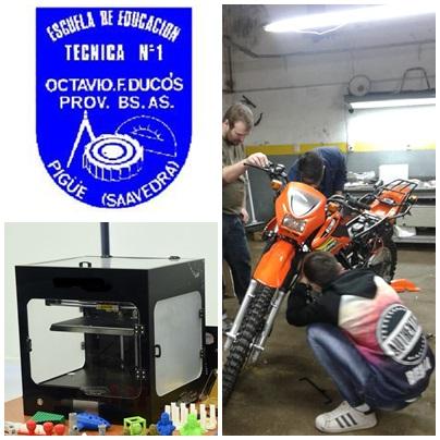 La Escuela Técnica de Pigüé recibió 4 motos y 2 impresoras 3D