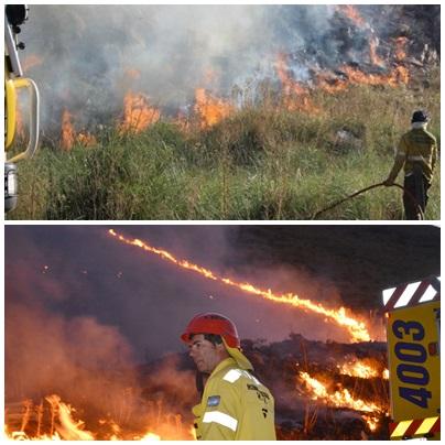 Estaría prácticamente dominado el incendio en el Abra de la Ventana - La ruta  76 quedó liberada