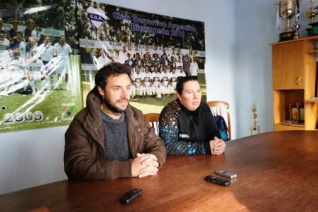 Presentación del fútbol femenino en Deportivo Argentino.
