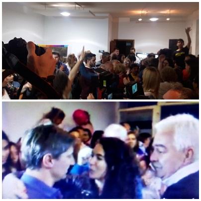 Hugo Corvatta y Marisol Merquel saludaron  personalmente a Notararigo