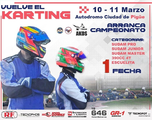 Karting del Sur - La primera fecha del torneo 2018 da comienzo el próximo fin de semana en Pigüé.