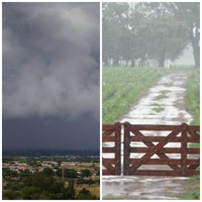 Registros de las abundantes lluvias en Pigüé y toda la región