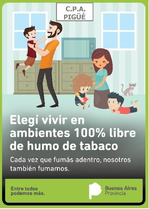 Actividades del  CPA Pigüé sobre tabaquismo