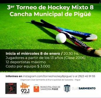Hockey - Club Sarmiento organiza torneo mixto
