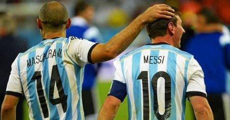 Lionel Messi alcanzó a Javier Mascherano en el record de presencias en Selección Nacional.