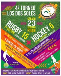 Rugby y Hockey - Se organiza el Torneo los Dos Soles en Puán.