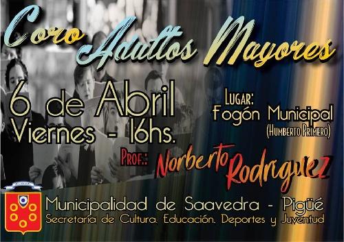 Pigüé: Inicia el Coro de Adultos Mayores Municipal
