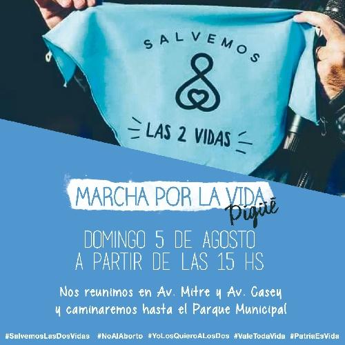 Convocan a nueva marcha y oraciones contra la despenalización del aborto en Pigüé