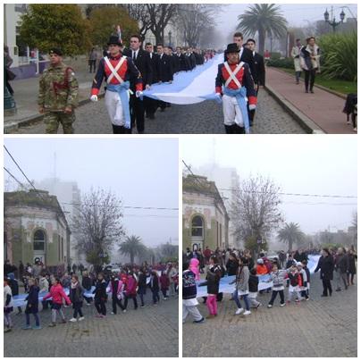 Desfile promesa  y jura de la bandera